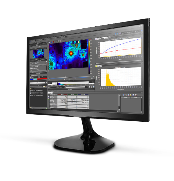 ResearchIR software on a computer monitor